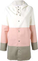 Stutterheim colour block raincoat - women - Cotton/Polyester/PVC - XS