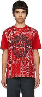 Versace Red Bandana Medusa T-Shirt