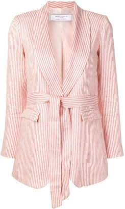 Societe Anonyme striped belted jacket