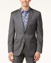 Bar III Mid-Gray Pindot Slim-Fit Jacket