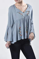 Nana Blue Embroidered Top