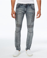 INC International Concepts Men's Skinny-Leg Moto Jeans, Created for Macy's