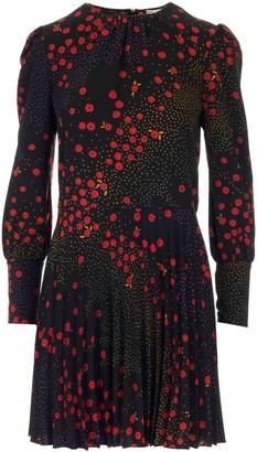 RED Valentino Floral And Polka-Dot Print Mini Dress