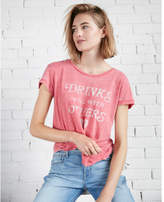 Express drinks well with others boxy graphic tee