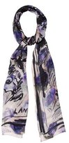 Lanvin Silk Abstract Scarf