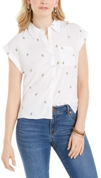 Style&Co. Style & Co Cactus-Print Camp Shirt, Created for Macy's