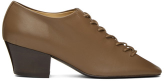 Lemaire Brown Heeled Derbys