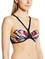 Moontide Women's Masai Mara Underwired Animal Print Bikini Top