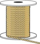 Hy-Ko Prod Co 100'Yelbrs Ball Chain Kbc198br Key Hook/Ring