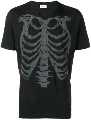 Saint Laurent rib cage printed T-shirt