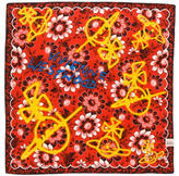 Vivienne Westwood Embroidered Floral Graffiti Scarf