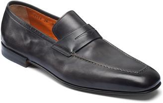 Santoni Men's Fox Leather Penny Loafers