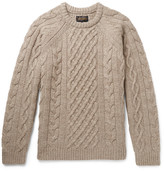 Beams Cable-knit Wool Sweater - Beige
