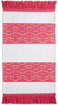 "Martha Stewart Collection Whim by Martha Stewart Collection Flamingo Kiss Cotton Stripe 20"" x 32"" Bath Rug, Created for Macy's"