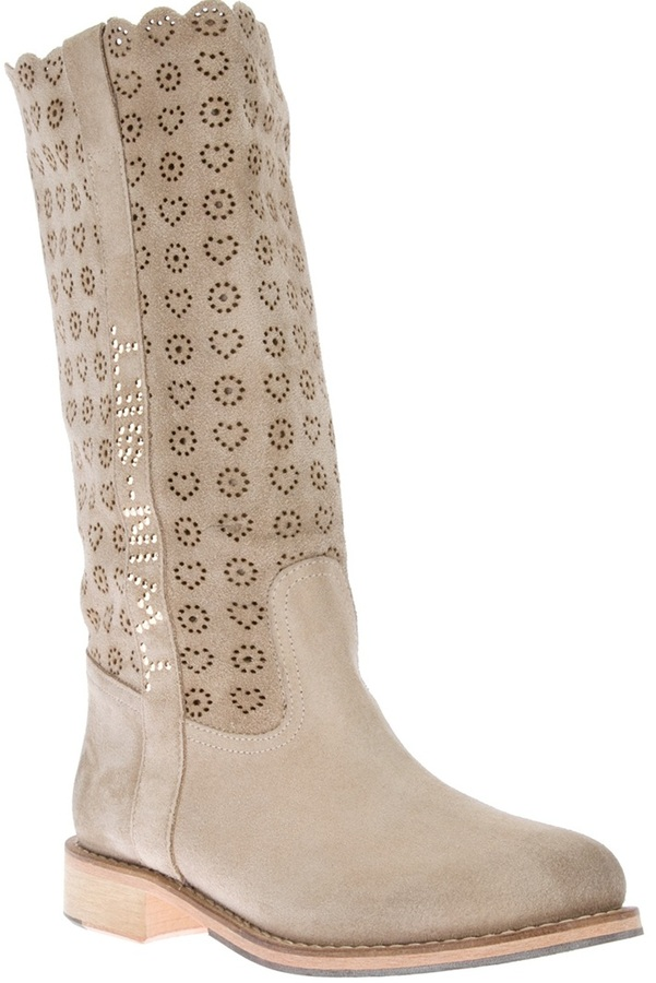 Twin-Set Twin Set perforated heart boot