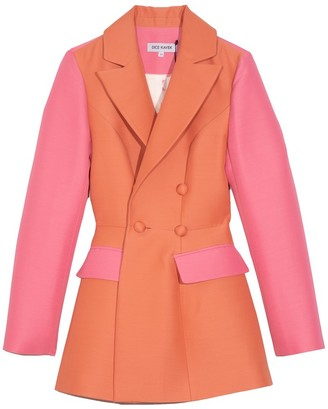 Dice Kayek Colorblock Jacket in Peach
