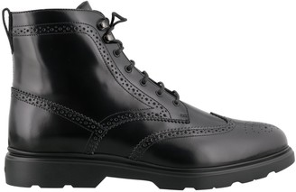Hogan Perforated Lace-Up Boots