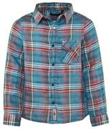 Ikks Blue Multi Check Plaid Shirt