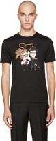 Dolce & Gabbana Black Cowboys T-Shirt