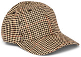 Our Legacy Houndstooth Linen-Tweed Baseball Cap