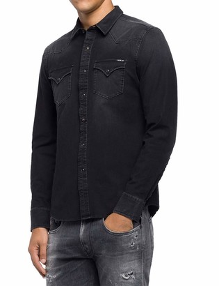 Replay Men's M4001 .000.41b 337 Denim Shirt