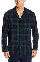 Nautica Men's Long Sleeve Button Down Cozy Fleece Pajama Top