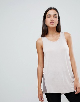 Blanc Noir Sunrise Tank-Grey