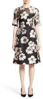 Lela Rose Women's Holly Silk Blend Fil Coupe Fit & Flare Dress