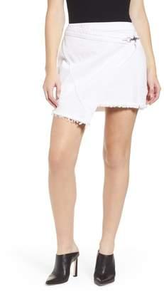 Blank NYC BLANKNYC Denim Fray Hem Wrap Denim Skirt