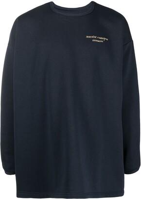 Societe Anonyme Logo-Print Round Neck Sweatshirt