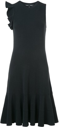 Proenza Schouler Sleeveless One Shoulder Ruffle Dress