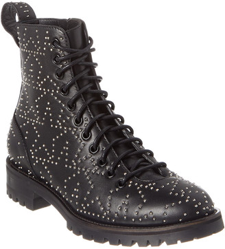 Jimmy Choo Cruz Studded Star Leather Combat Boot