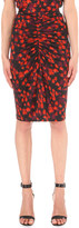 Givenchy Blurred floral-print stretch-jersey skirt