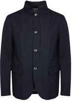 Armani Collezioni Navy Water-repellent Shell Jacket