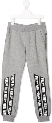 Philipp Plein Junior Logo Print Track Pants