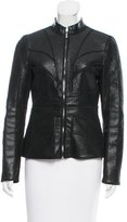 Zac Posen Pebbled Leather Jacket