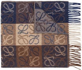 Loewe Monogram Check Scarf