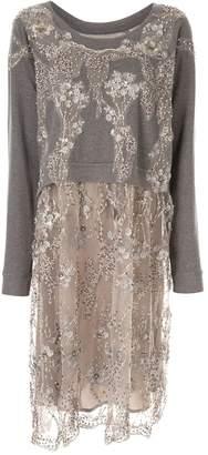 Antonio Marras lace sweatshirt midi dress
