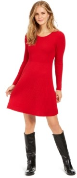 Style&Co. Style & Co Petite Ribbed Sweater Dress, Created for Macy's