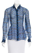 ADAM by Adam Lippes Abstract Print Silk Top