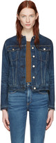Rag & Bone Blue Denim Cuffless Jacket