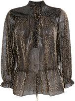 Just Cavalli snakeskin print blouse
