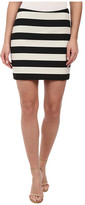 Nicole Miller Bold Stripe Mini Skirt