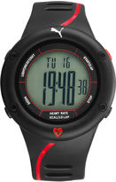 Puma Black and Red Strap Watch
