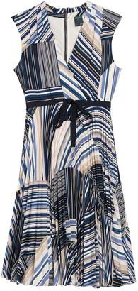 Gabby Skye Sleeveless Striped Dress