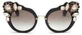 Miu Miu 'Catwalk' jewelled acetate cat eye sunglasses