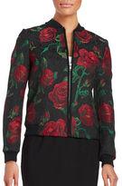 Helene Berman Floral Printed Bomber Jacket