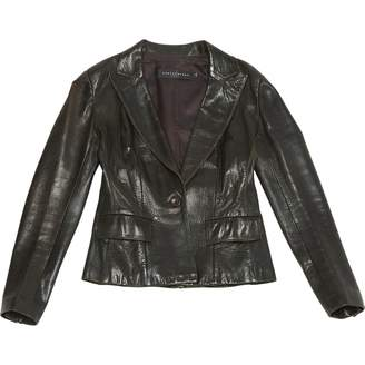 Ventcouvert Brown Leather Jacket for Women