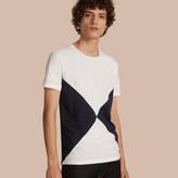 Burberry Overlaid Geometric Motif Cotton T-shirt