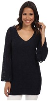 Chaser Oval Cutout Bell Sleeve Top